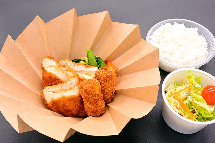 チーズチキンカツ&手作りコロッケ弁当 1,000円
